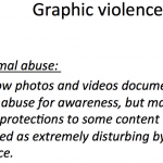 Facebook policy on showing images on animal abuse
