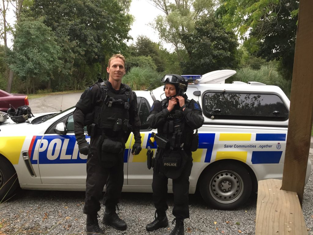 Police officers in NZ showed compassion towards a bird hit by a police car