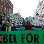 Extinction Rebellion protest in London April 2019.