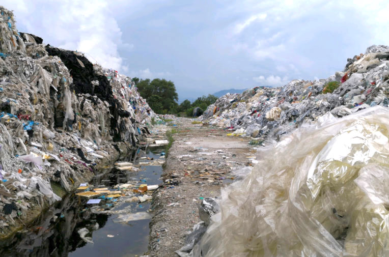 Malaysia landfill - British plastic waste. I understand that this is illegal.