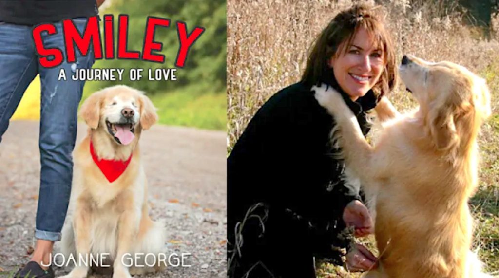 Smiley and George. The book which which won the Hackmatak Children's Choice Book Award.