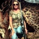 Tess Tally and the black giraffe she killed