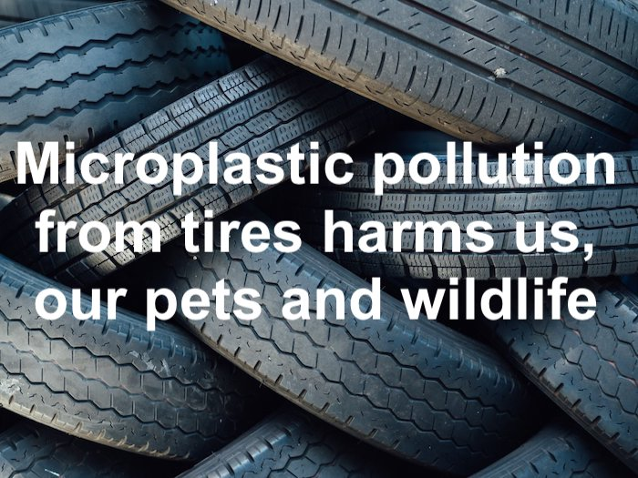 Microplastic pollution from tires needs to be addressed by manufacturers and governments. Photo in public domain.