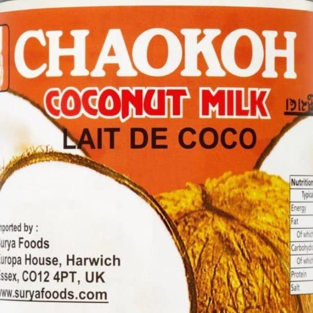 Chaokoh coconut milk can