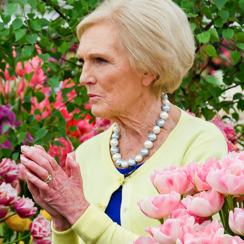 Mary Berry at Chelsea Flower Show