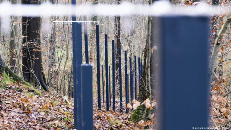 The fence between Denmark and Germany
