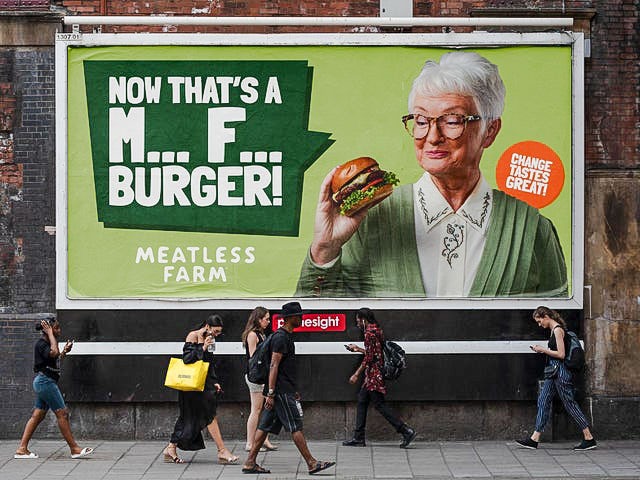 Meatless Farm advertising poster