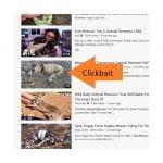 Clickbait image icons on YouTube