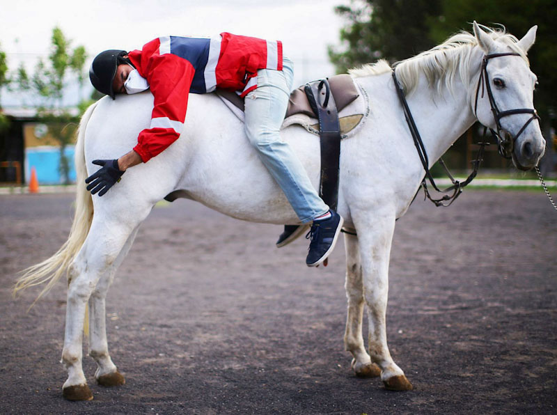 Hippotherapy for Mexico's health workers