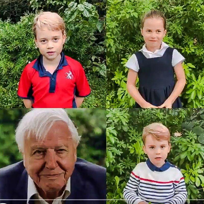 Sir David and the Duke and Duchesses children