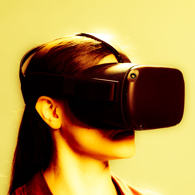VR headset to watch nature programmes