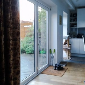 Bifold doors can harm pigeons and other birds